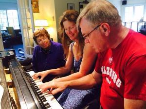 Coaching duets during Sonata Piano Camp